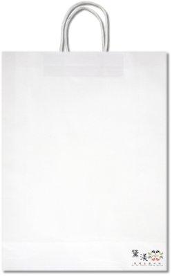 請以25為倍數下單『2K-白牛(大型, 長版)牛皮色牛皮紙袋』32+11*42cm手提紙袋【黛渼塑膠】專業包裝材料 新北市