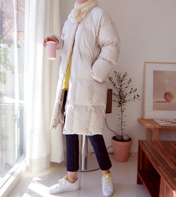 Gigi歐尼 韓國代購 【BHN1912 】 正韓   立領保暖羽絨綿長外套(2色)