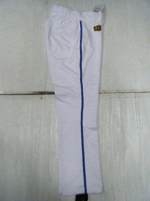新莊新太陽 ZETT BUPT-1071SP 同職棒用球褲內裏製作工法 直筒 棒壘 球褲 藍色 邊條 特790