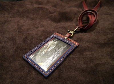KH手工皮革工作室MIT全牛皮識別證皮套 頸掛可拆 信用卡證件 名片悠遊卡 感應卡 門卡皮套 辦公室用品