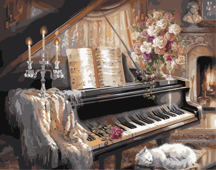 八號倉庫 DIY手繪風景人物花卉數字油畫 40x50【1T112X670】155下標區