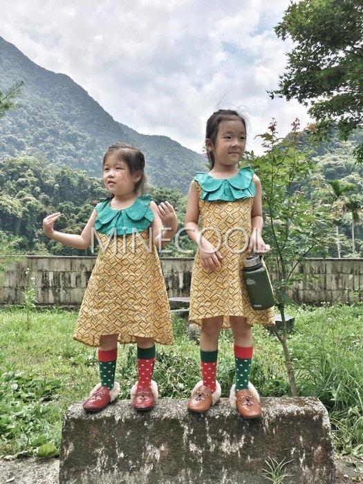 MiNE SHOP韓版女童娃娃領方塊連衣裙公主裙0522-10 黃色 現貨