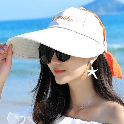 哆啦本鋪 太陽帽女戶外正韓遮陽帽防曬沙灘帽大沿可摺疊防紫外線涼帽子 D655