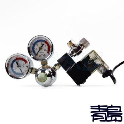M。。。青島水族。。。N-1001台灣LT----新型雙錶電磁閥 CO2控制調節器==雪天使雙錶型(側路式/需板手)