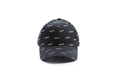 SQUAD 2019 A/W  Full version Old Cap 滿版Logo老帽 黑色