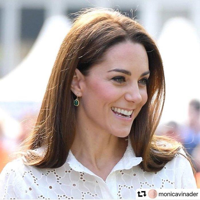 [免稅店代購] MONICA VINADER 凱特王妃 愛上變身情人徐玄振 GP SIREN綠色耳環