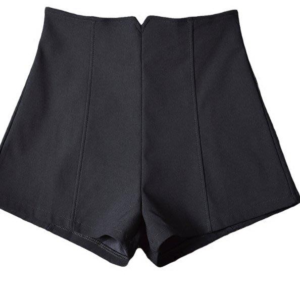 新款韓版短褲女夏黑色高腰A字闊腿顯瘦外穿打底休閒褲熱褲潮