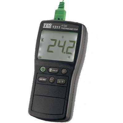 TECPEL 泰菱 》TES-1311A 溫度錶 K TYPE 溫度 熱電偶溫度計