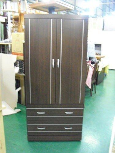 樂居二手家具 全新木芯板B101幻影單人衣櫃 衣櫥衣架高低櫃台中中古傢俱買賣2手沙發桌椅