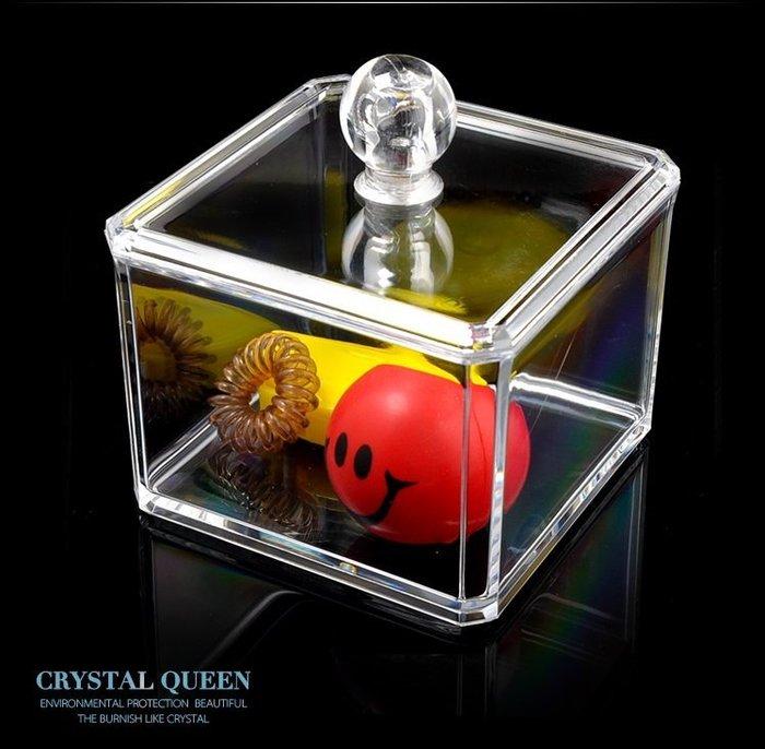 【愛麗絲生活家飾雜貨】韓國高質感透明水晶壓克力收納盒/飾品盒/棉線盒-單層