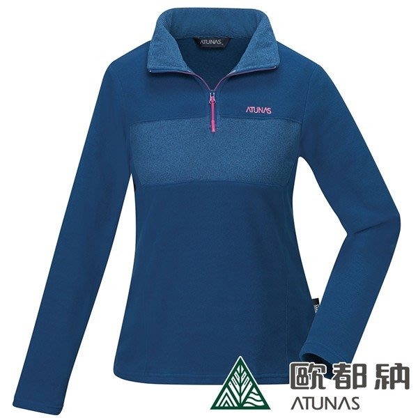 (登山屋) ATUNAS 歐都納 女POLARTEC MICRO拉鍊衫A1PS1916W藍條