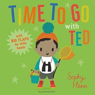 *小貝比的家*TIME TO GO WITH TED/硬頁/3~6歲/翻翻書