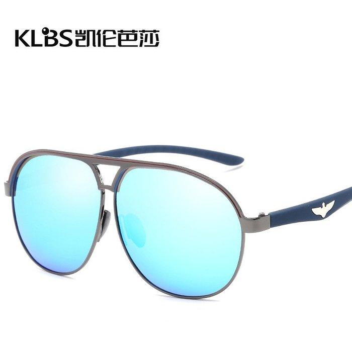 [凱倫芭莎]2003眼鏡鏡框墨鏡太陽眼鏡鏡片新款偏光太陽鏡2313 潮流男士蛤蟆鏡 金屬偏光太陽鏡 飛行員墨鏡133