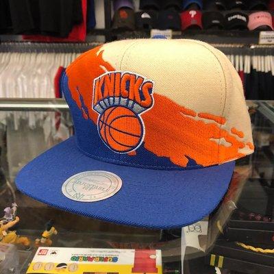 BEETLE PLUS 全新 MITCHELL&NESS NBA 紐約尼克 藍橘 NY SNAPBACK 塗鴉 畫家