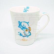 【莫莫日貨】全新 迪士尼 公主系列 英文字母 把手馬克杯 杯子 陶瓷杯 - 愛麗絲 夢遊仙境 46911