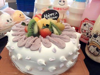 ❤ 歡迎自取 ❥ 雪屋麵包坊 ❥ 藝術款式 ❥ 芋見甜蜜 ❥ 八吋生日蛋糕 ❥❥ 9 折優惠中