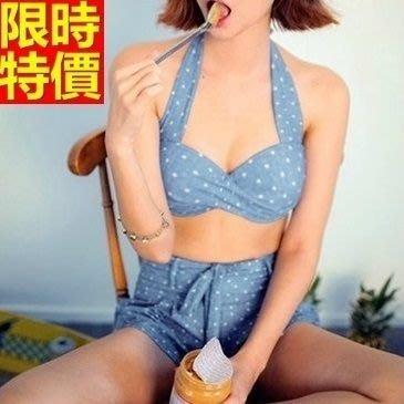 比基尼 泳衣-時尚點點夏季必備三件式女泳裝67h70[獨家進口][米蘭精品]