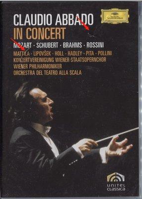 【黑妹音樂盒】阿巴多 Claudio Abbado - In Concert  2DVD -----二手DVD