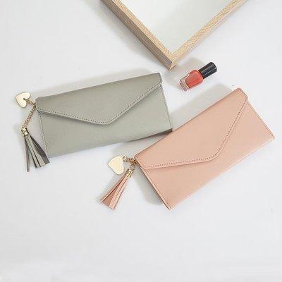 手拿包 錢包女長款女式錢包韓版簡約個性零錢卡包多功能手拿超薄軟皮錢夾AMSS