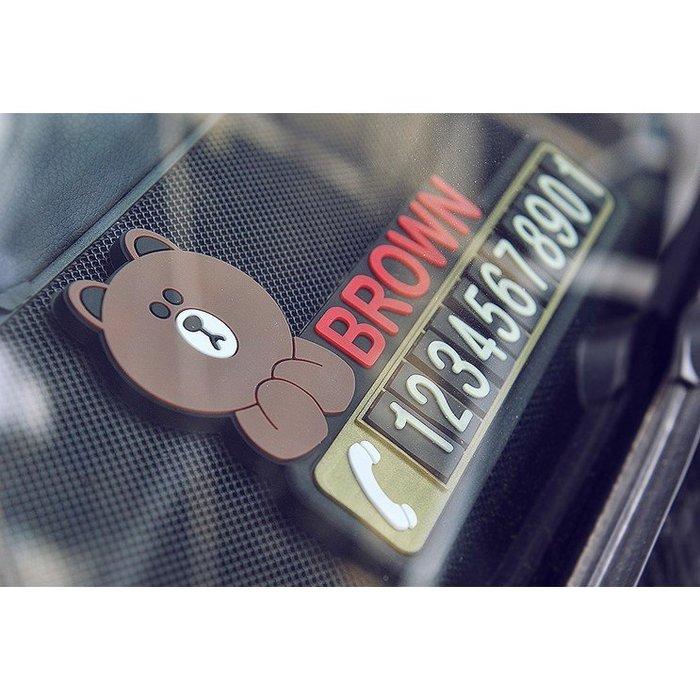 創意可愛夜光卡通可愛汽車移車挪車牌車上臨時停車牌卡電話號碼牌熊本熊