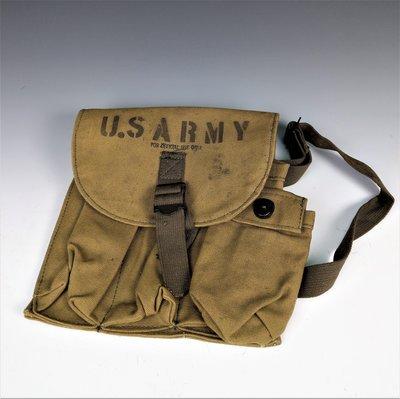 US ARMY 戰時 美國陸軍用腰包/彈藥包/軍用品/古道具 ≡≡ 溯源古民居 ≡≡