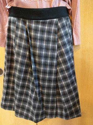 二手衣~日系品牌 CLEAR Impression 灰白格子裙 尺寸3號