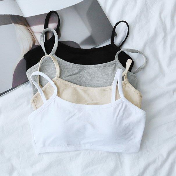 Bellee  正韓 細肩帶罩杯棉質小可愛  (4色)  【OBA38】 HOT 百