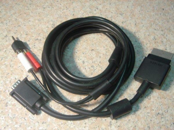 XBOX360原廠VGA線/VGA端子+RCA音源轉接頭 XBOX360接電腦螢幕 桃園《蝦米小鋪》
