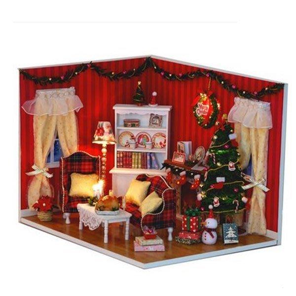 5Cgo 【鴿樓】會員優惠 17498119221 diy小屋完美派對手工房子 模型木質 拼裝場景 聖誕節生日禮物