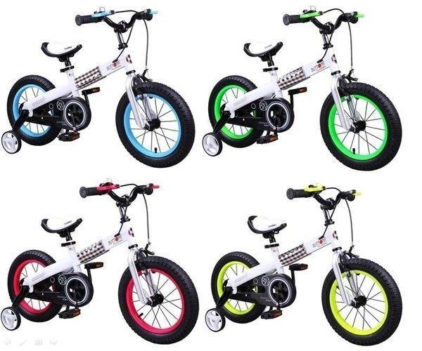e世代12吋優貝扣子車Royalbaby BUTTONS BIKE兒童腳踏車/輔助輪兒童車/兒童自行車充氣輪胎兒童節禮物