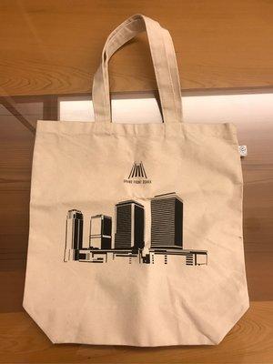 全新 日本大阪 Grand Front Osaka 環保購物袋 紙袋 提袋 35*35-55(含把手)*11cm 米白色