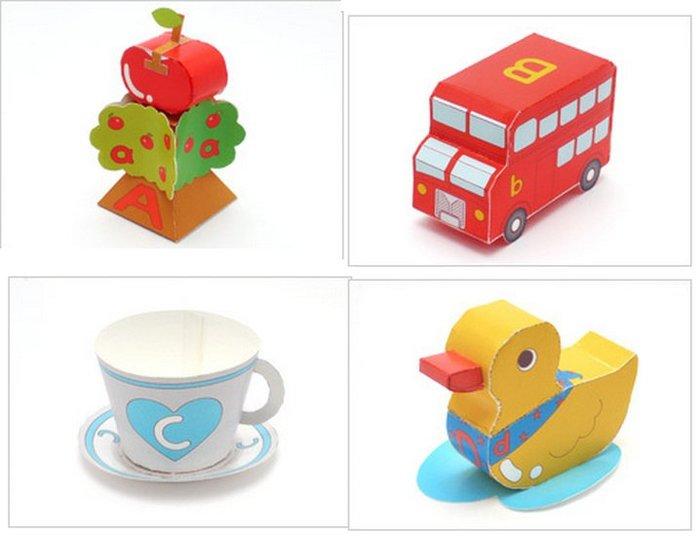 紙模型diy 3D摺紙手工玩具 超可愛英文字母A-M(5入)_☆優購好SoGood☆