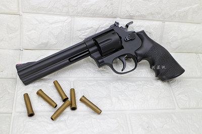 """台南 武星級  UHC 6吋 左輪 手槍 空氣槍 ( BB槍BB彈玩具槍蟒蛇牛仔城市獵人左輪槍6""""PYTHON M357"""