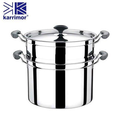 英國Karrimor 御用超級大蒸鍋(附蒸架) KA-W320A 湯鍋 不鏽鋼  火鍋【CocoLife】