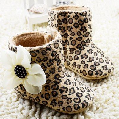 森林寶貝屋~豹紋雪鞋~學步鞋~幼兒鞋~...
