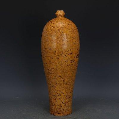 ㊣姥姥的寶藏㊣ 唐代黃地全手工絞胎梅瓶  文物出土古瓷器古玩古董收藏擺件