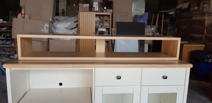 美生活館 家具 訂製 客製化 全紐松原木 簡單款 長口型 電視 音箱架 置物架 電視架 音響架