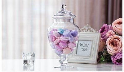 **蕾絲公主**新品推出**歐式高腳玻璃糖果罐(A款)~婚禮佈置、夢幻candy bar、主題週歲生日派對