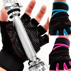 【推薦+】強化護腕運動手套D017-01健身手套短手套防護具.止滑手套防滑手套.半指露指手套.腳踏車自行車手套哪裡買