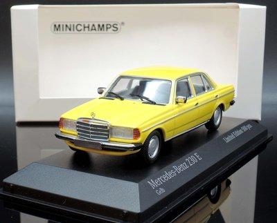 【M.A.S.H.】現貨特價 Minichamps 1/43 Mercedes 230E W123 Saloon 黃
