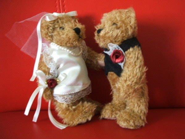 *花露露*日本婚禮小熊(一對)結婚新人的禮物/婚禮佈置的最愛!!手腳可活動唷~新婚特惠