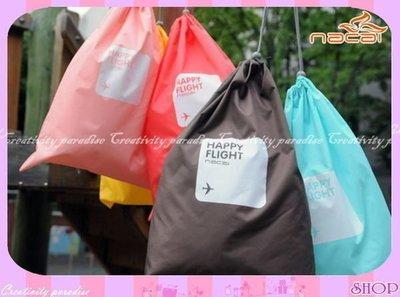 ☆意樂舖☆【納彩四件組】韓系旅行整理袋收納袋束口袋4件套