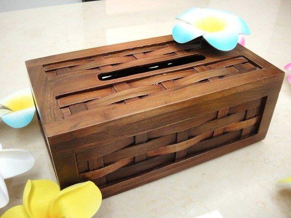 Y【永晴峇里島】巴里島木頭編織長方形面紙盒,增添異國風味,居家,民宿,飯店都好用-面紙盒4