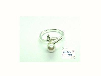 現貨 高質感 925銀飾 天然饅頭珍珠 人魚款 ( 可調式 戒指 ) 質感商品 限量