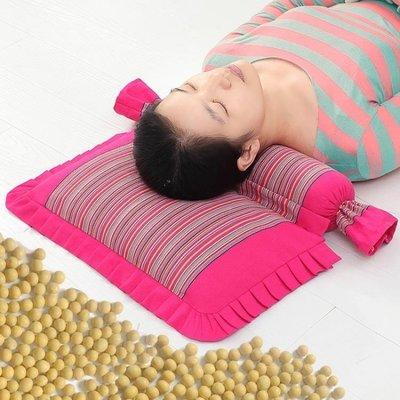 黃豆頸椎枕頸椎專用枕頭蕎麥皮護頸枕成人修復非治療單人黃豆枕芯