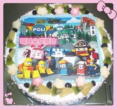 瑪其朵烘焙坊 卡通蛋糕 造型蛋糕 客製化蛋糕 8吋 照片蛋糕 POLI波力 門市編號 P044