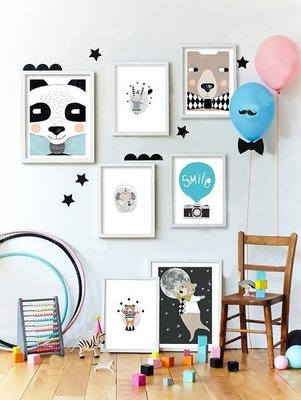 Sis 歐美 童趣 框畫 兒童房 動物 掛畫 裝飾 時尚 嬰兒房 室內設計 IKEA 家飾品 [33*43公分]