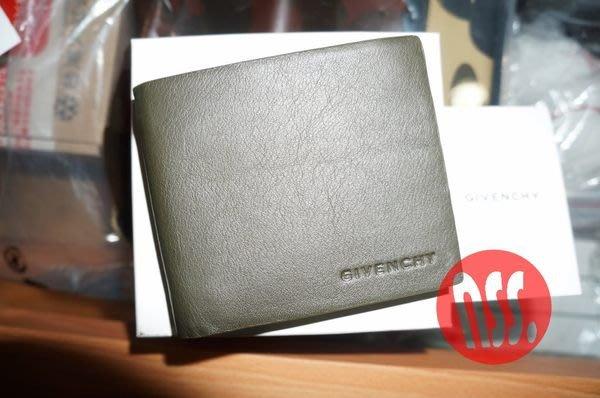 特價「NSS』Givenchy 紀梵希 WALLET 牛皮 綠 黑 皮夾 短夾 信用卡夾 卡片夾