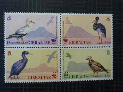 直布羅陀 鳥類郵票(WWF)1991年