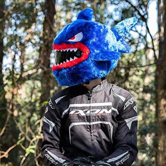 現貨【丹】A_Moto Loot Helmet Cover 安全帽套 芝麻街 藍色鯊魚 鯊魚款
